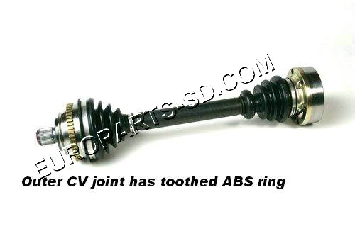 Axle Assembly-Left with ABS 1997-2000