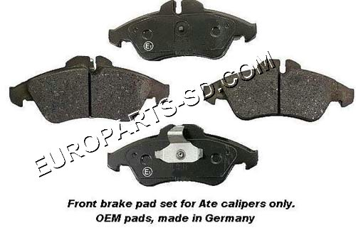 Brake Pad Set-Front Ate 2002 (Early)