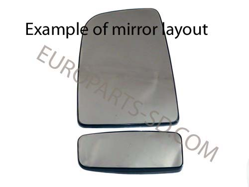Mirror Glass-Left Side, Lower  2007-2014