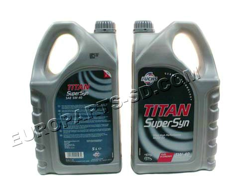 Engine Oil-Fuchs 5 Liters 5W-40 2002-2006